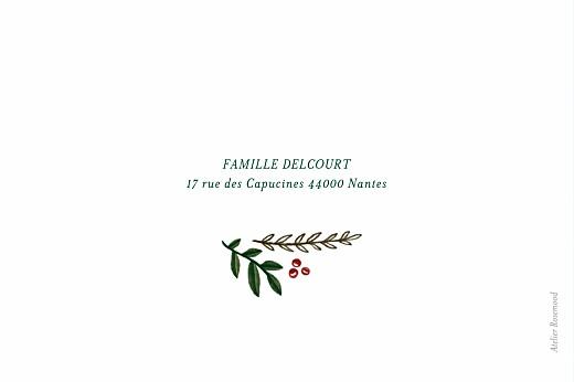 Carte de voeux Noël rétro bleu & vert - Page 4