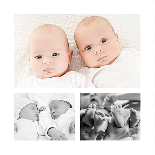 Faire-part de naissance Lovely twins 3 photos gris filles - Page 2