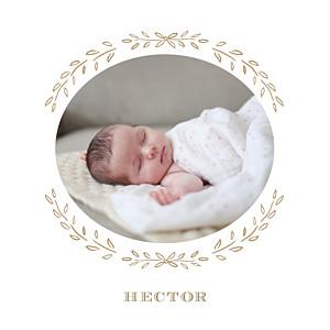 Faire-part de naissance marron poème photo kraft