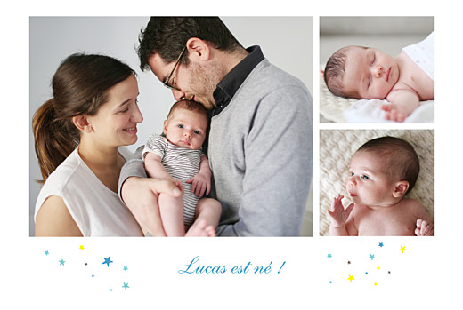 Faire-part de naissance Liberty étoiles paysage photos bleu - Page 2
