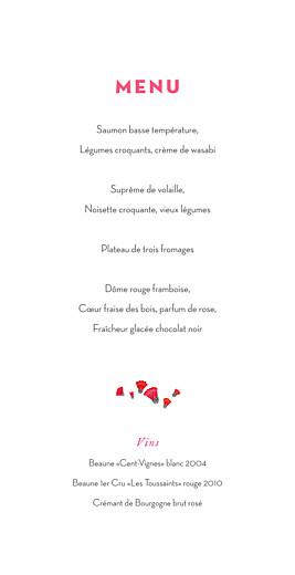 Menu de mariage Couronne de fleurs gris & rose - Page 3