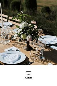 Marque-table mariage avec photo tout simplement blanc