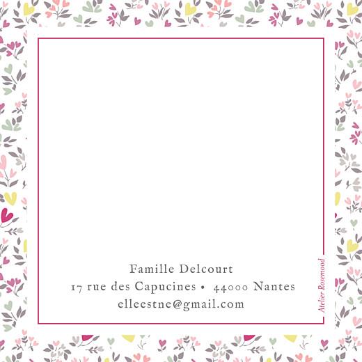 Carte de remerciement Petit liberty cœur prune - Page 2