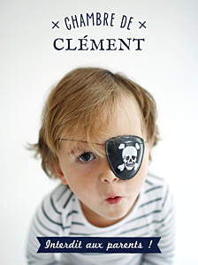 Affiche photo interdit aux parents ! bleu nuit