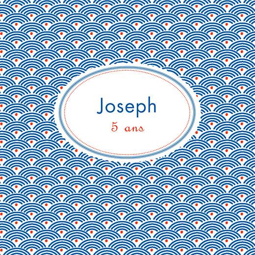 Carte d'anniversaire Pattern fantaisie blanc, bleu & rouge