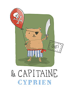 Affiche Pirate vert