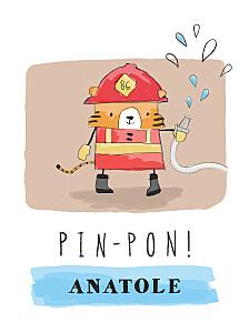 Affiche rouge pompier rouge