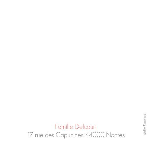 Carte de remerciement Merci simple photo blanc - Page 2