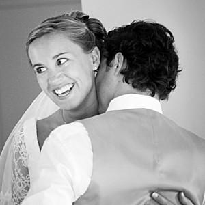 Carte de remerciement mariage Couronne de fleurs gris & rose