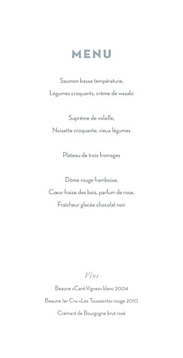 Menu de mariage Mimosa jaune - Page 3