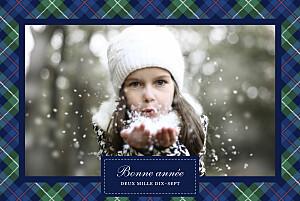 Carte de voeux clémence gantois écossais bleu & vert