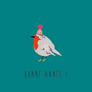 Carte de voeux cartes de noël petit moineau photo (4 pages) canard