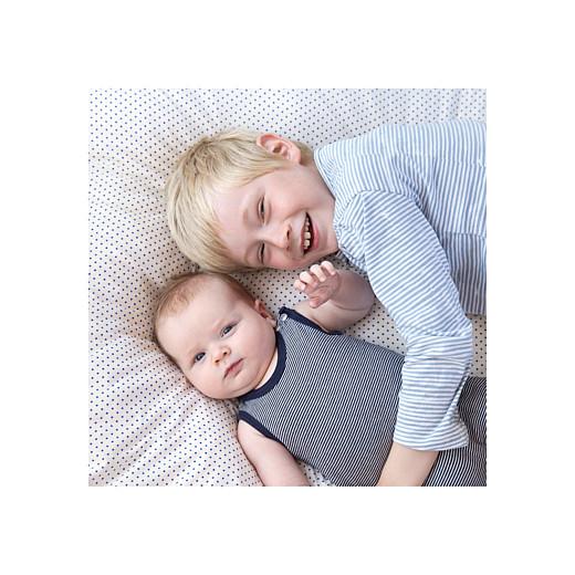 Faire-part de naissance Justifié photo vert doux - Page 2