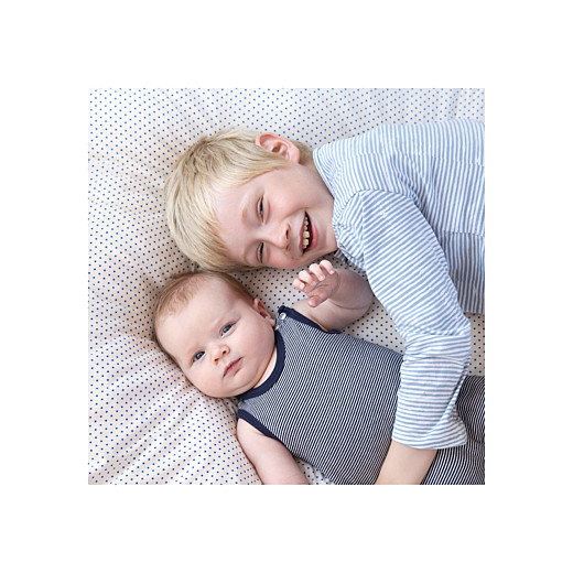 Faire-part de naissance Justifié photo vert doux