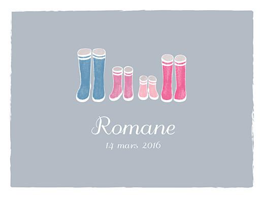 Affiche Balade (2 enfants) gris & rose - Page 1