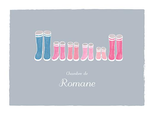 Affichette Balade (4 enfants) gris & rose - Page 1