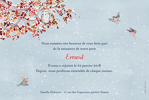 Faire-part de naissance Conte d'hiver bleu - Page 2
