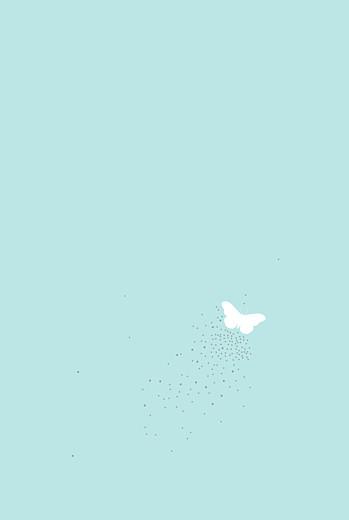 Faire-part de mariage Papillons portrait blanc et bleu - Page 2