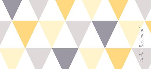 Etiquette perforée baptême Triangles jaune taupe - Page 2