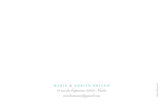 Carte de remerciement mariage Papillons paysage blanc et bleu - Page 2