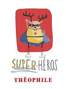Affiche rouge super-héros rouge