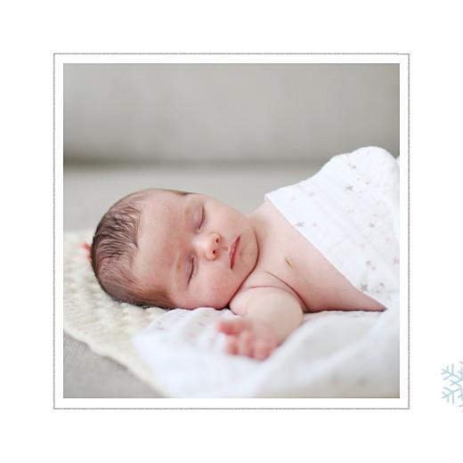 Faire-part de naissance Premiers flocons photo bleu clair - Page 2