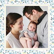 Faire-part de naissance Petit liberty coeur (triptyque) bleu page 3