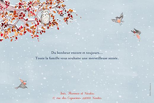 Carte de voeux Conte d'hiver bleu - Page 2