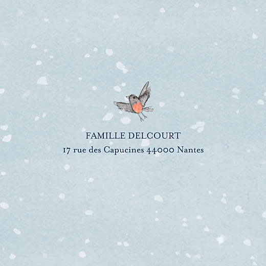 Carte de voeux Conte d'hiver (triptyque) bleu