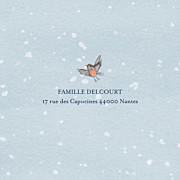 Carte de voeux Conte d'hiver (triptyque) bleu page 5