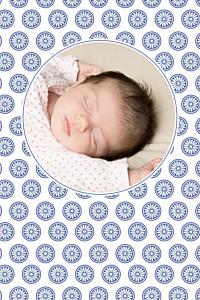 Carte de remerciement Merci alhambra photo bleu