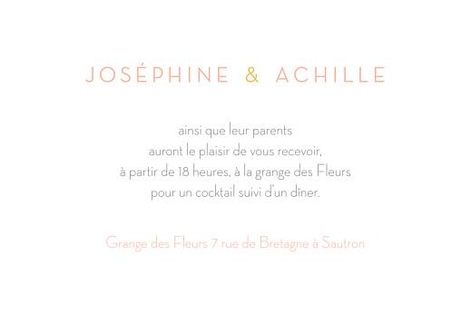 Carton d'invitation mariage Les mariés jaune - Page 2