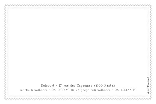 Carte de correspondance Design blanc - Page 2