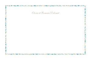 Carte de correspondance classique liberty liseré bleu
