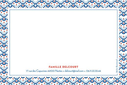 Carte de correspondance Pattern fantaisie bleu
