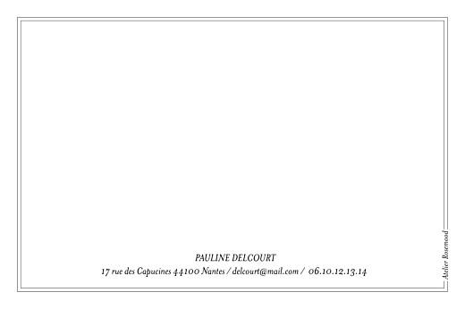Carte de correspondance Jungle noir & blanc - Page 2