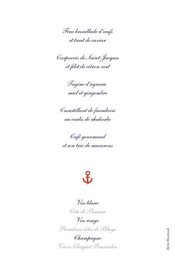 Menu de baptême Matelot rouge - Page 2