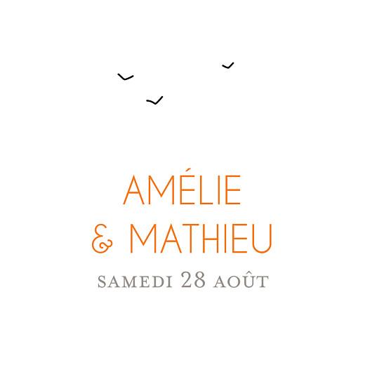 Etiquette perforée mariage Promesse champêtre (carré) blanc