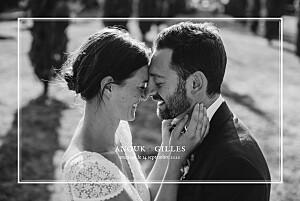 Carte de remerciement mariage gris feuillage gris