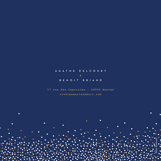Faire-part de mariage Confetti bleu - Page 4