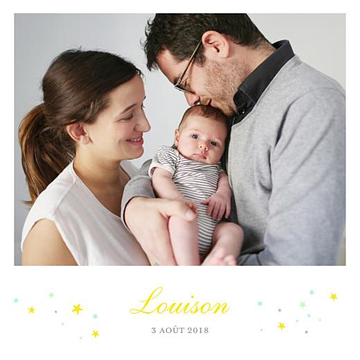 Faire-part de naissance Liberty étoiles photos jaune - Page 2