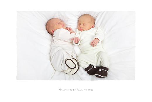 Faire-part de naissance Fil à linge marinières jumeaux bleu - Page 2