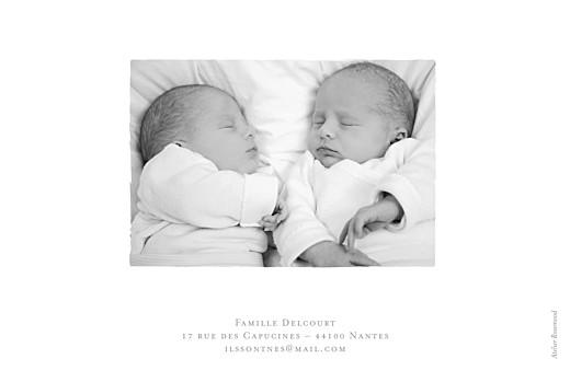 Faire-part de naissance Fil à linge marinières jumeaux bleu - Page 4