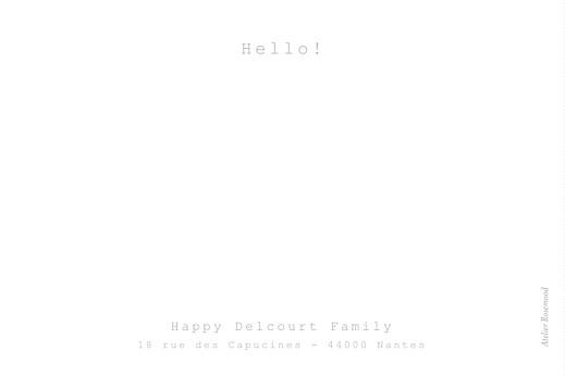 Carte de correspondance Ribambelle blanc - Page 2