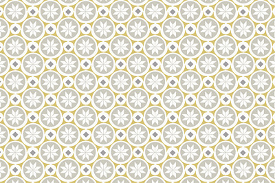 Carte de correspondance Mosaïque gris & jaune finition
