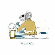 Faire-part de naissance Lovely family 2 enfants 3photos garçons page 1