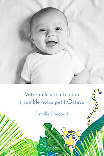Carte de remerciement Merci jungle photo vert - Page 2