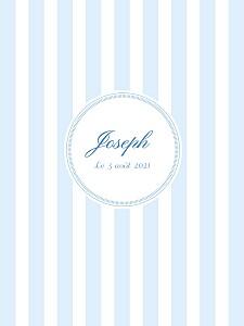 Affiche motifs douceurs bleu