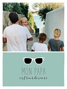 Affichette Daddy cool vert