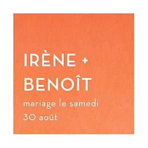 Etiquette de mariage Aquarelle orange